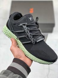 Mens Y-3 Runner 4D Stampa Y3 alphaedge Futurecraft 4D Runner Outdoor uomo Scarpe da corsa Sport scarpe da ginnastica Sneakers da