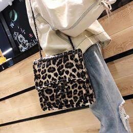 2426003f8e26 Fashion Leopard Small Square Single Shoulder Slung Bag Handbag Messenger  Crossbody Chain Handbags PU Hand Bags For Women Ladies