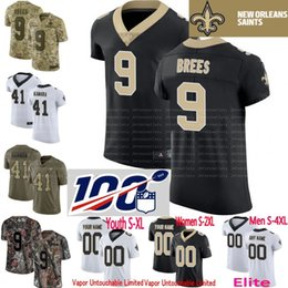 eca2ce171 100th anniversary custom Men Youth women New Alvin Kamara Drew Brees  Michael Thomas Lattimore Mark Ingram Camo Saints Elite Jersey