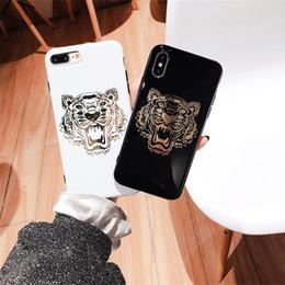 Funda móvil caliente online-Nueva funda para teléfono Tiger para iPhone XsMax Xr Xs 7plus 6 6Splus 8 8plus X carcasa del teléfono móvil Ofrece un empaque hermoso