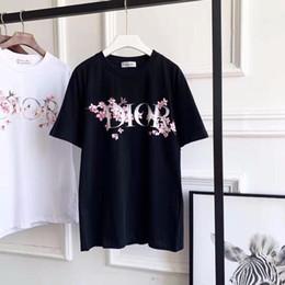 Fiore bello online-T-shirt in cotone a maniche corte sfoderata da donna