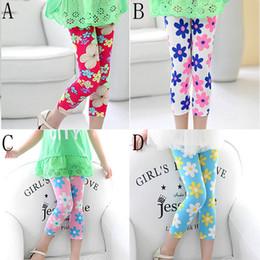 Leggings per bambini in cotone Pantaloni per bambini Stampa Flower Skinny Baby Girl Abbigliamento Pantaloni per bambini Leggings per bambine da