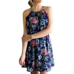 621d25532c Women Sexy Camisole Floral Strap Mini Dress without Necklace Bohemian dress  Jurken 2019 zomer dames sexy Party dresses brazil