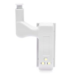 Juegos de muebles online-1 Unidades Gris Gabinete Bisagra Led Luces de Sensor Para Armario Armario Puerta de la Casa Bisagra Luz Muebles Luz Hardware Noche Luces
