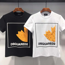 Canada 2019 19ss Ds2 Mode T-shirt D2 Man Icon Coton de haute qualité T-shirt d'été à manches courtes Marques Lettre des hommes Imprimer cheap icon t shirts Offre