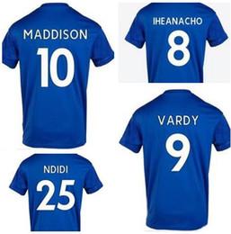 2019 camisetas de fútbol de calidad tailandesa ee. 19-20 Hombres personalizados VARDY 9 Jerseys de fútbol de calidad tailandeses, personalizar GRIS 7 IBORRA NDIDI 25 15 MADDISON 10 Okazaki 20 Morgan 5 Iheanacho usa camisetas de fútbol de calidad tailandesa ee. baratos