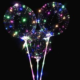 детские игрушки Скидка 3шт многоразовые светящиеся светодиодные воздушный шар прозрачный круглый пузырь день рождения свадебные украшения светодиодные воздушный шар ребенка детские игрушки