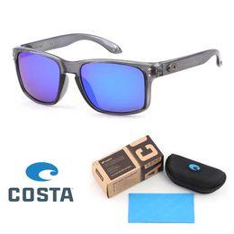 Tendências das mulheres on-line-Alta Qualidade Costa Óculos De Sol Para Homens Mulher Moda óculos de Sol Personalidade Tendência Reflexivo Revestimento Polarized Eyewear com caixa de Varejo