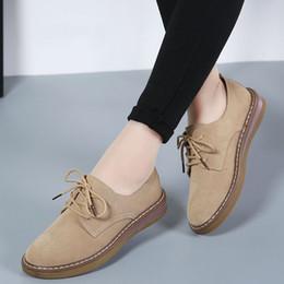 858526f6ae91f mujeres mocasines oxford Rebajas Zapatos de mujer Cuero genuino Oxford  Madre Chicas con cordones Moda Zapatos