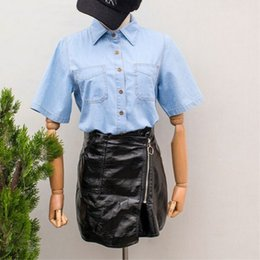 2019 джинсы для девочек Новые девушки Slim Blusas Новые летние женские повседневные рубашки женские джинсовые рубашки женские модные корейские джинсовые блузки высшего качества дешево джинсы для девочек