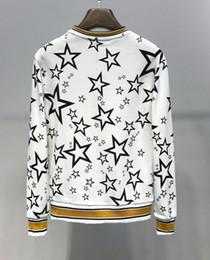 Deutschland DG Mens Woman Sweater berühmte Marke offizielle 2019 neuen Stil Hoodies klassischen Buchstaben Sterne weiß schwarz Kapuzenpullover Top-Qualität Pullover Versorgung