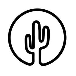 Круглые переводные картинки онлайн-Кактус CIrcle Наклейка Окна Наклейка на Бампер Автомобиль Песок Кактусы Wander Путешествия Пляж Горячий