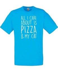 Tudo o que eu Me importo Sobre É Pizza Mens Impresso T-Shirt Tripulação Pescoço de Manga Curta Tee shirtTees Custom Jersey camiseta de