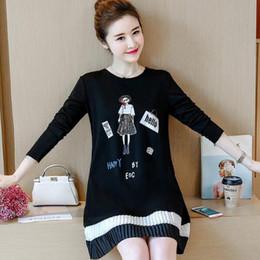 vestidos largos de maternidad negro Rebajas color negro de alta calidad Vestidos de maternidad nuevos vestidos de maternidad para blusa suelta de gran tamaño en un vestido de maternidad largo