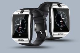 2019 android montre intelligente nfc monobloc Q18 Bluetooth Smart Watch Support Carte SIM Connexion NFC Smartwatches de santé pour Android Smartphone avec le paquet de Rectangle promotion android montre intelligente nfc