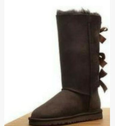 Bowknot di cowboy online-Donne New Christmas New Classic Tall Stivali invernali in vera pelle Bailey Bowknot Bailey Bow da donna Bow Boots Boots Boot US 5-14