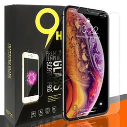 autocollant de peau galaxie Promotion Protecteur d'écran en verre trempé pour Samsung A10 A20 A30 A40 A4 J6 Plus Iphone X XR XS MAX X 8 7 0.26mm