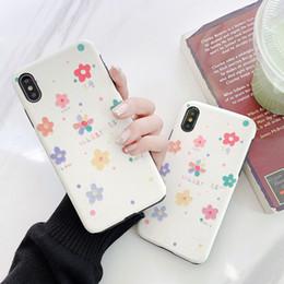2019 caja del teléfono de seda Para Iphone Xs Max Xr Funda de teléfono Lucky Flower Silk Embossed 6 7 8 X Plus IMD Design TPU Soft Cell Phone Cases caja del teléfono de seda baratos