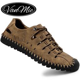 Canada Vamnie Été Hommes Sandales De Plage Sandales En Cuir pour Hommes Gladiator Sports de Plein Air Hommes D'été Chaussures De Grande Taille 38-48 cheap sandals mens leather sport Offre