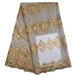 Argentina Nigeriano tela de encaje tela de encaje de tul africano malla diseñador de bricolaje hacer vestido de boda Bras ropa interior ropa de tela Suministro