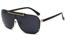 VE2140 óculos medusa Luxo moldura quadrada de grandes dimensões de metal mens óculos designer marca banhados a ouro anti UV400-eyewear lente de material de