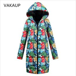 1bfbb2a56 2019 prendas para mujer Chaqueta de invierno Mujeres Abrigo de algodón  Impresión Sombreros Abrigos para mujer