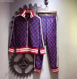 Costumes de méduses en Ligne-Haut de gamme costume nbv hommes jogging costume méduse impression requin sweat à capuche Slim costume de sport veste veste sweat