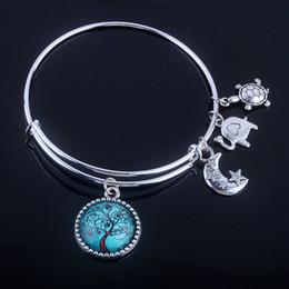 2020 drahtbaum leben Fashion Schmuck-Armbänder 18 Styles Cabochon Dome Tree of Life Charme-Armband Einstellbar Erweiterbare Draht-Armbänder für Frauen Fine Jewelry günstig drahtbaum leben