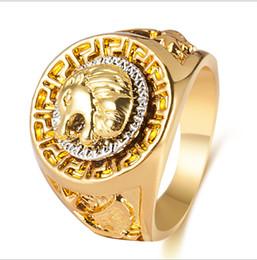 2019 jóias anéis maçônicos para homens Hip hop dos homens Anéis de Jóias Livre Maçônica 24 k ouro Leão Medalhão Cabeça Anel de Dedo para mulheres dos homens HQ desconto jóias anéis maçônicos para homens