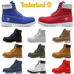 Sapatas pretas militares on-line-Timberlands Atacado botas Timberland designer de luxo das mulheres dos homens calçados casuais militar Chestnut Black White tênis mens formadores de couro tornozelo bota