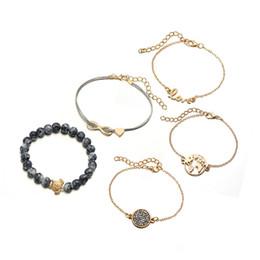 5 combinaison géométrie creuse électrique carte tortue de mer ananas conque shell variété style femmes réglable pile bracelet ? partir de fabricateur