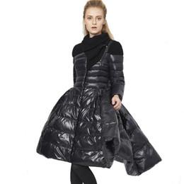 Casaco de dovetail on-line-Dovetail baixo casaco mulheres designer de casacos de inverno luxo França Saia fêmea inverno Hem Long Down Jacket 90% pato branco para baixo Parkas Casacos