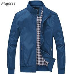 mens high collar reißverschluss jacke Rabatt Jacken Männer Dicker Solide Einfache Allgleiches Koreanischen Stil Stehkragen Reißverschluss Freizeitjacke Herren Dünne Taschen Hochwertige Mäntel