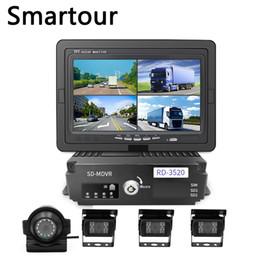 camara de crucero terrestre Rebajas autobús escolar camión Smartour coche 360 cámara panorámica de conducción grabadora 4 de la cámara DVR antes y después de vídeo de marcha atrás