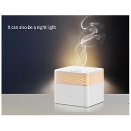 KBAYBO 120ml diffusore di aroma di olio essenziale umidificatore d'aria elettrico usb mini Square mist maker calda luce notturna per la camera da letto di casa cheap warm air humidifiers da umidificatori ad aria calda fornitori