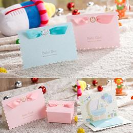 73442018c12d3 2019 cartes de bébé 3d Invitation de fête de naissance garçons filles  anniversaire carte de voeux
