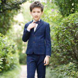 2019 mädchen formale hose klagen 2019 Boy Abendanzug 4 Stück / Set Junge Kleid formale Partei Jackenhosen beugen Weste Anzug Krawatte