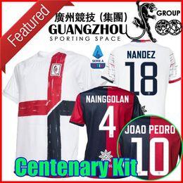 2019 club america jersey azul 19 20 camisetas de fútbol Cagliari Calcio Centenario Kit Joao Pedro limitan Nainggolan 2020 camisetas de aniversario da Maglie 2021 Edición
