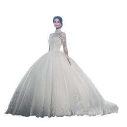 Argentina DREAM BRIDALS Vestido de novia Vestido de novia Cuello alto Mangas largas Vestido de encaje Vestido de novia de Novia Robe De Mariee Vestido de novia Vestido de novia Suministro