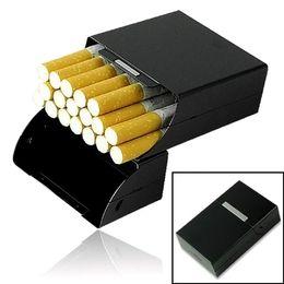 magnetischer metallkasten Rabatt Heiße magnetische Metall Aluminium Tasche Zigarette Zigarre Tabak Box Fall