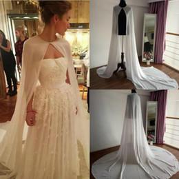 Hochzeit Jacken/wrap Weddings & Events Frauen Bolero Lange Wraps Elegante Weiß Sheer Sommer Formale Abendkleider Chiffon Cape Günstige Mäntel Braut Hochzeit Schals
