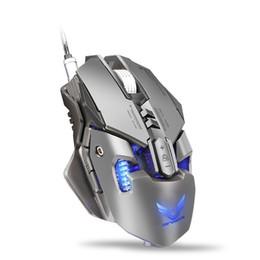 Poids du fil en Ligne-X300 souris de jeu rechargeable filaire 7 souris Botton 4000DPI USB Matel Poids souris ergonomique rétro-éclairé pour Gamer