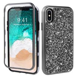 cobertura inteligente do transformador Desconto 2019 mais novo projeto 3 em 1 heavy duty diamante de luxo que blingling case para iphone xr x xs max 6 s 7 8 plus frete grátis