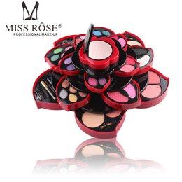 Miss Rose Flor de ojos Paleta de sombra de ojos Tamaño grande Flor de ciruelo Juego giratorio Caja de sombra de ojos de belleza Estuche de cosméticos Kit de maquillaje A171 desde fabricantes