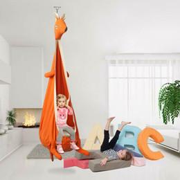 Amaca swing indoor online-Kangaroo altalena sedia amache coperta all'aperto appeso sedile per bambini altalena mobili da giardino fumetto altalena mobili della scuola materna CCA11696 1 pz