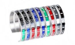 2019 il braccialetto all'ingrosso tre colore Nuovo acciaio inossidabile 316LMen donne tachimetro bracciale aperto gioielli bracciale orologio adatto per il regalo del partito