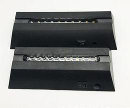 base all'ingrosso di cristallo chiara Sconti Base LED nera 17mm lunga per lastre di cristallo acrilico 10mm Luce bianca Dissolvenza luci RGB Novità Tavolo Lampada 3D all'ingrosso LLFA