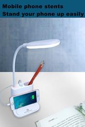 Lámpara de escritorio del estudiante Carga de la lámpara del dormitorio de carga USB táctil LED protección para los ojos lámpara de escritorio multifuncional regalos creativos desde fabricantes