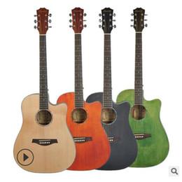 2019 chitarra jumbo palissandro 2019 nuovo Folk ballboard chitarra 40 pollice 41 pollici di abete viso singolo Sapele lato posteriore pianoforte pratica strumento principiante