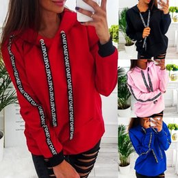 Plain-pullover online-2019 Frauen SweatshirtHoodie Pullover Hoody Baumwolle Uni Dessin Jumper Gelegenheits